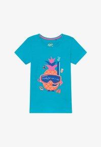 Lemon Beret - SMALL GIRLS - T-shirt print - bachelor button - 2