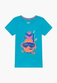 Lemon Beret - SMALL GIRLS - T-shirt print - bachelor button - 0