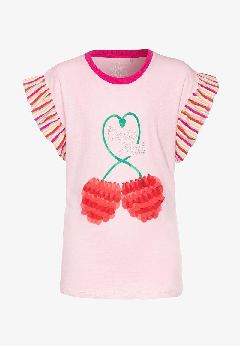 Lemon Beret - SMALL GIRLS  - Print T-shirt - orchid pink