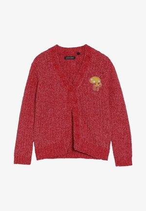 SMALL GIRLS CARDIGAN PULL - Strikjakke /Cardigans - tomato pure