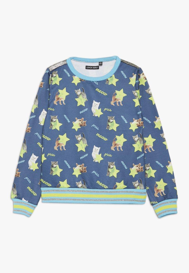 Lemon Beret - SMALL GIRLS - Sweater - medieval blue