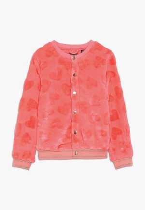 SMALL GIRLS  - Giacca in pile - neon coral