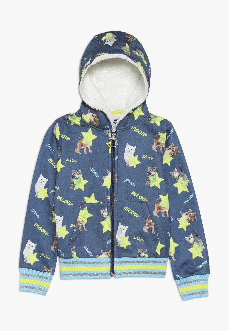 Lemon Beret - SMALL GIRLS CARDIGAN - veste en sweat zippée - medieval blue