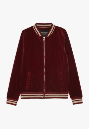 TEEN GIRLS CARDIGAN  - Mikina na zip - biking red