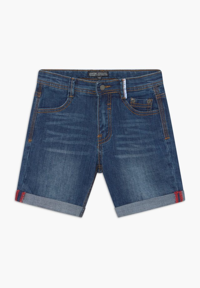 SMALL BOYS BERMUDA - Szorty jeansowe - dark blue