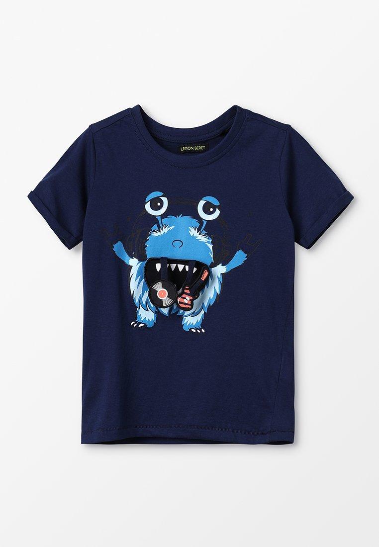 Lemon Beret - SMALL BOYS - T-shirts print - medieval blue