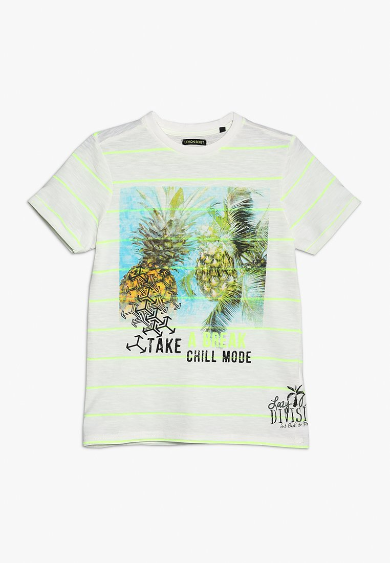 Lemon Beret - TEEN BOYS - Print T-shirt - safety yellow