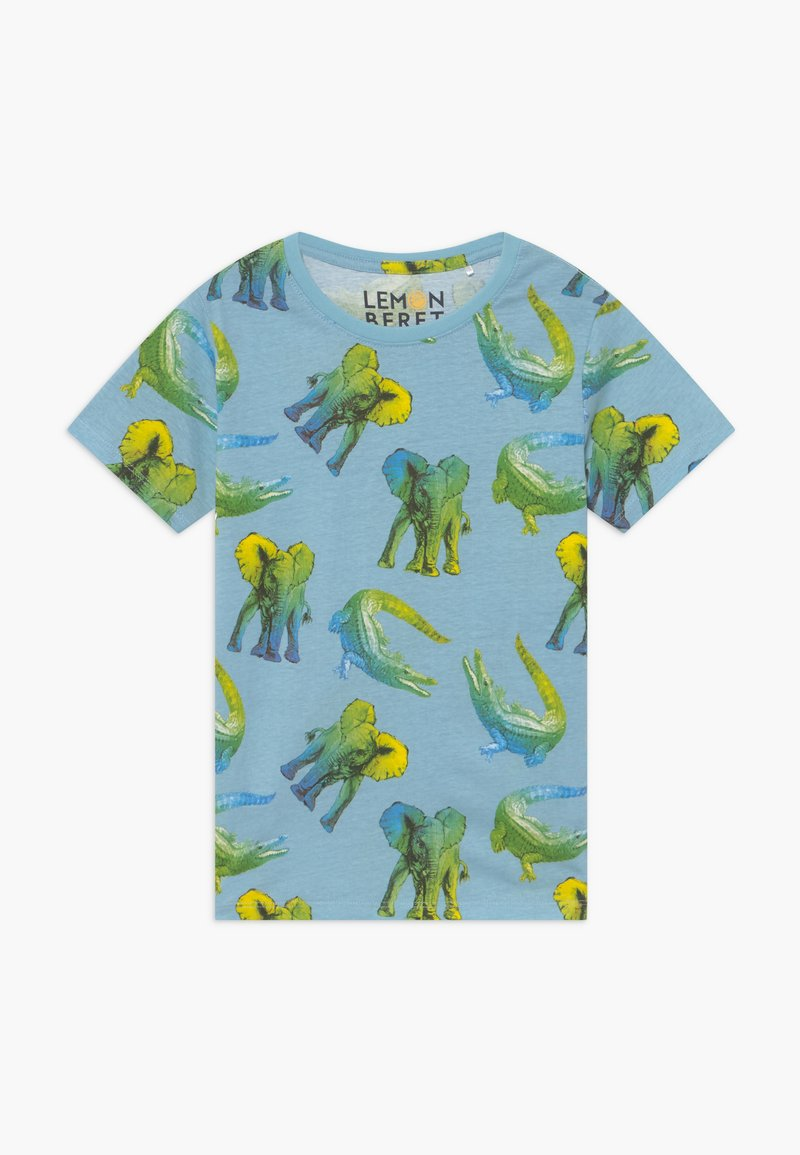 Lemon Beret - SMALL BOYS - Print T-shirt - blue bell