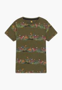Lemon Beret - TEEN BOYS  - Camiseta estampada - burnt olive - 0