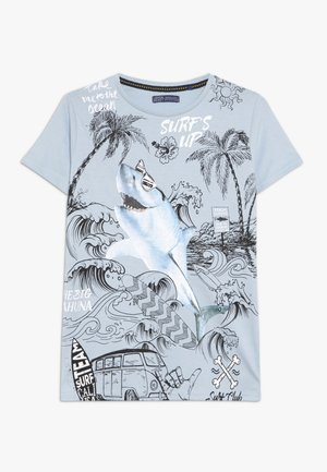 TEEN BOYS - T-shirt print - light blue melange