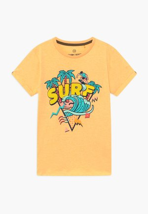 TEEN BOYS - Print T-shirt - yellow melange