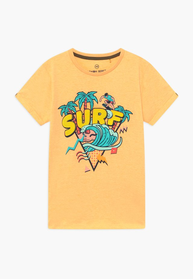 TEEN BOYS - Printtipaita - yellow melange