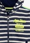 Lemon Beret - SMALL BOYS CARDIGAN - Zip-up hoodie - blue/light grey melange