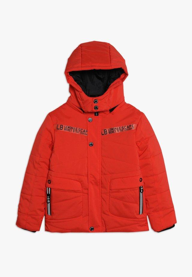 SMALL BOYS JACKET - Winter jacket - neon orange