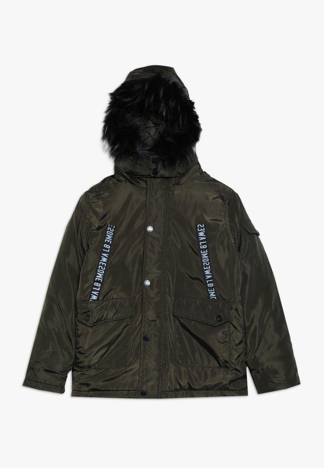 TEEN BOYS JACKET - Winter coat - olive night