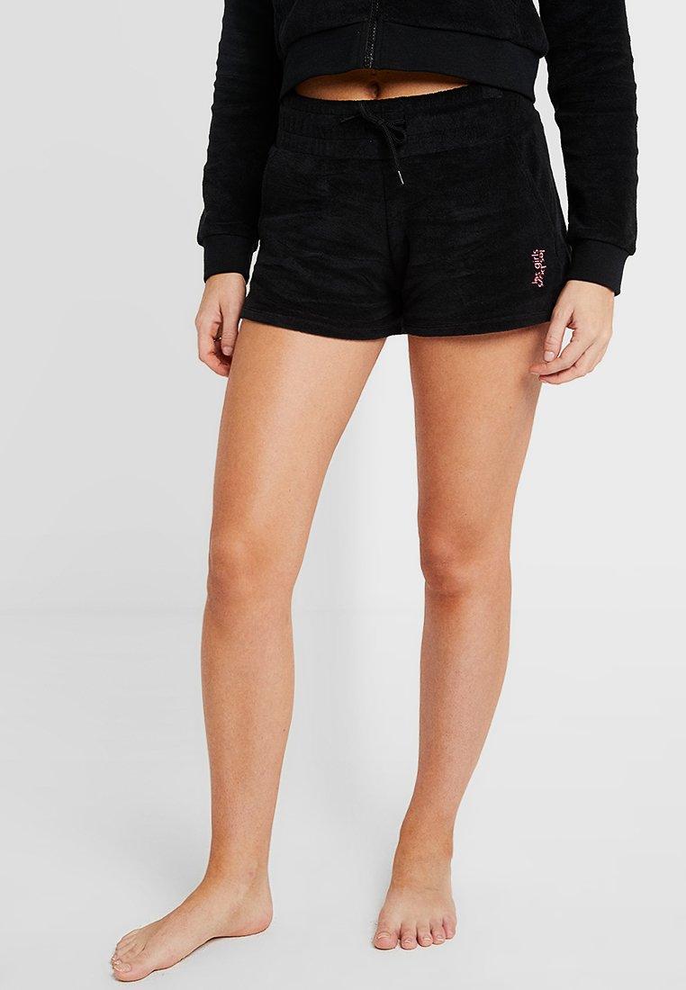 Les Girls Les Boys - TERRY SHORT - Pyjama bottoms - black