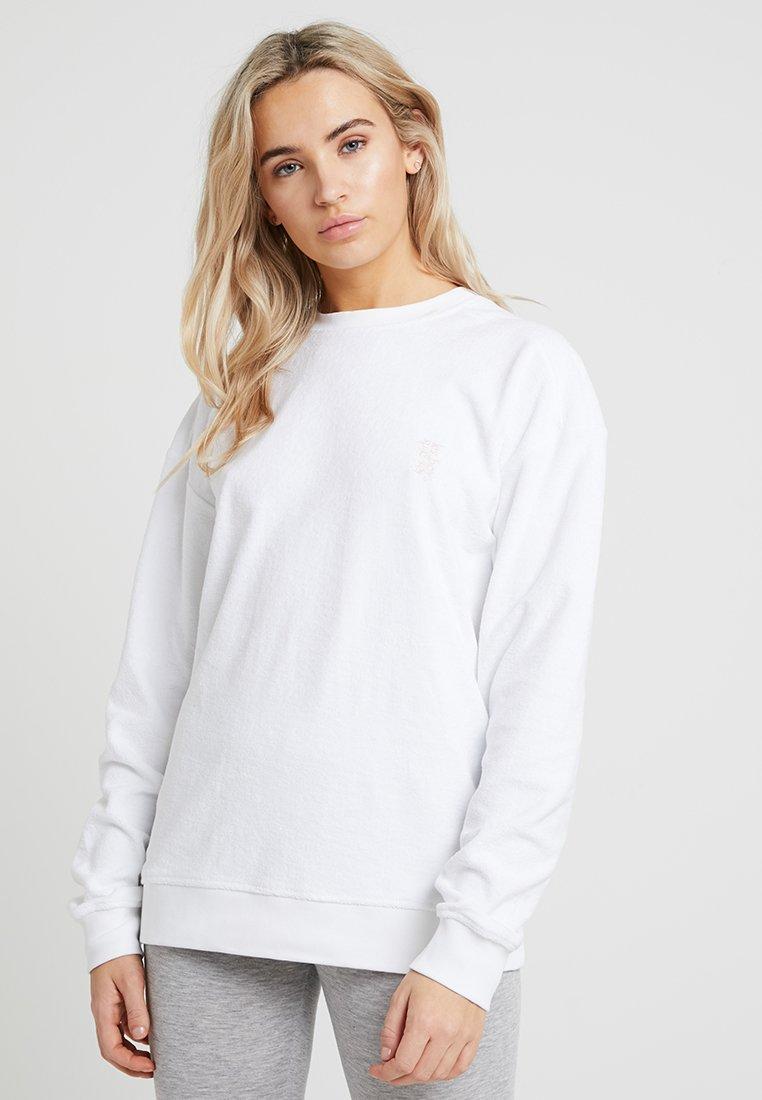 Les Girls Les Boys - TERRY CREW NECK - Pyjamasoverdel - white