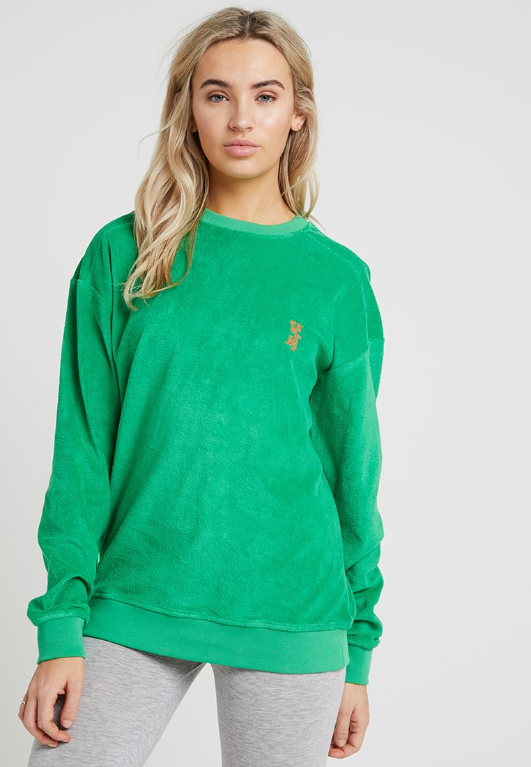 Les Girls Les Boys - TERRY CREW NECK - Maglia del pigiama - green