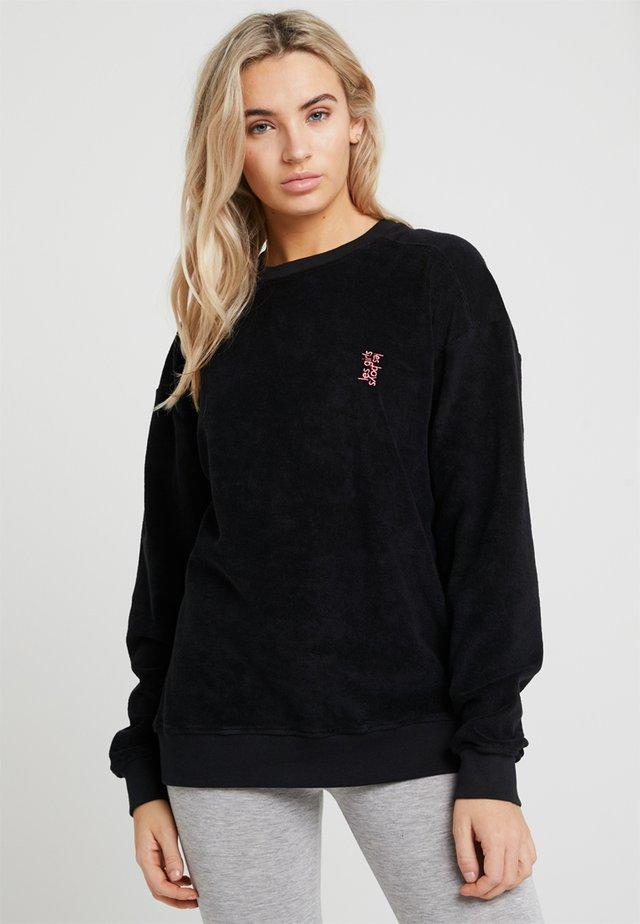 TERRY CREW NECK - Pyjama top - black