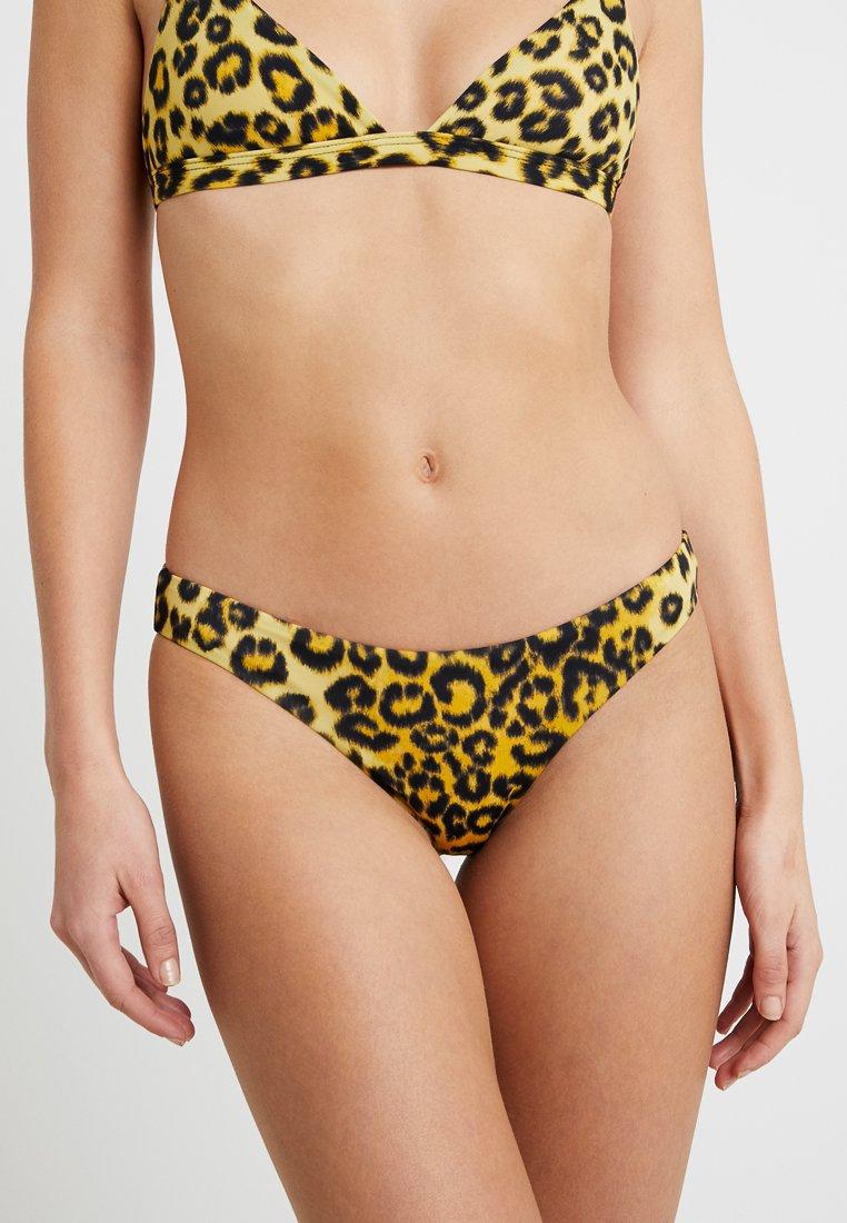 Les Girls Les Boys - LEOPARD BRIEF - Bikini bottoms - yellow