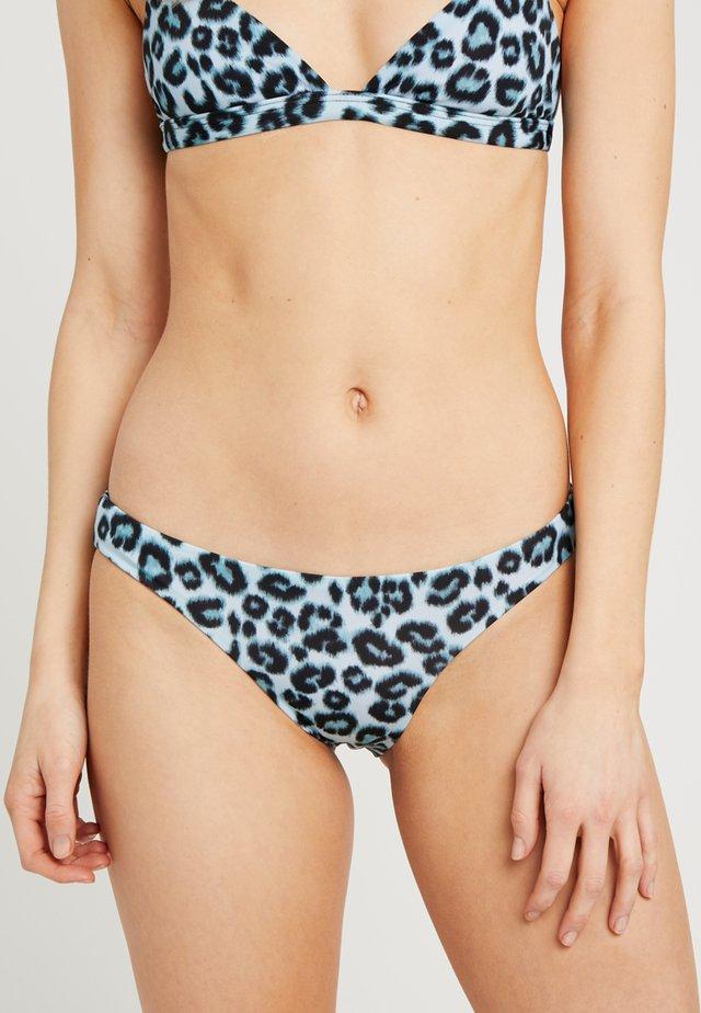 LEOPARD BRIEF - Bikini bottoms - blue