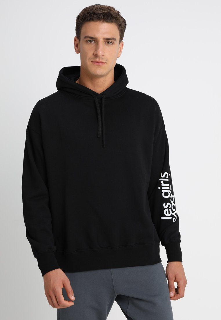 Les Girls Les Boys - LOOPBACK HOODY BIG LOGO - Pyjamas - black