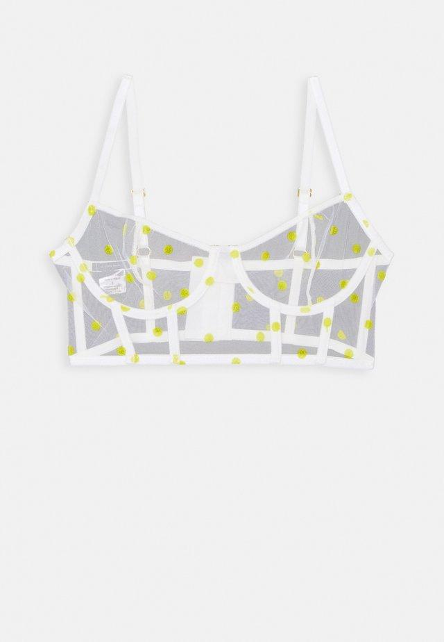 CORSET PAULA - Kaarituelliset rintaliivit - white/yellow