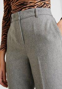 Levete Room - GUNILLA - Trousers - light grey melange - 5