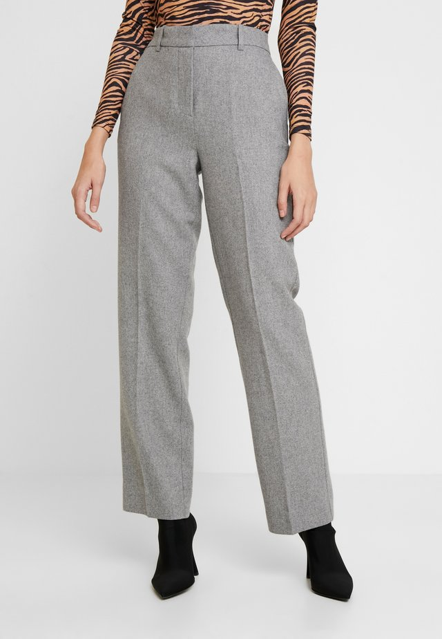 GUNILLA - Trousers - light grey melange