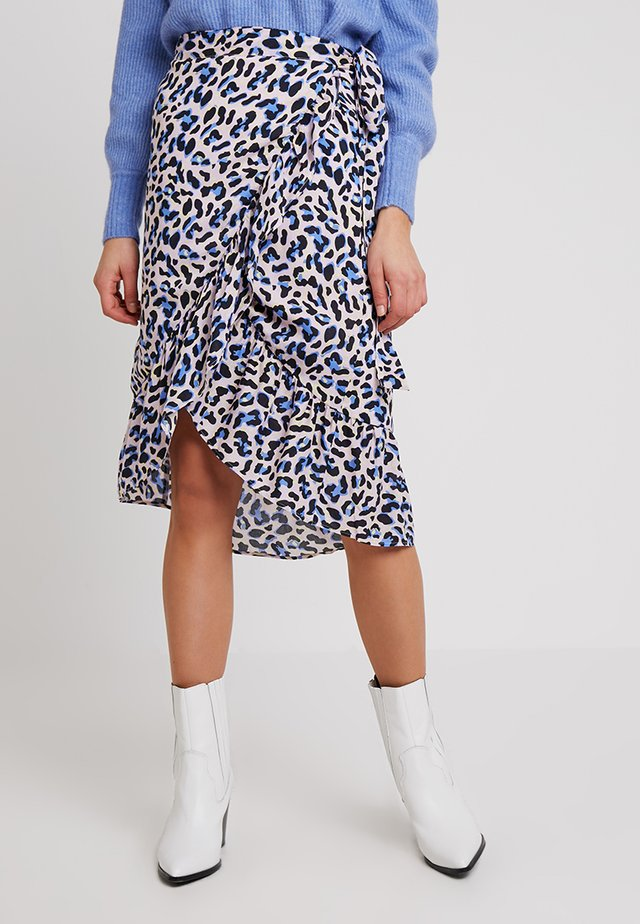 EMEL - A-line skirt - pool blue combi