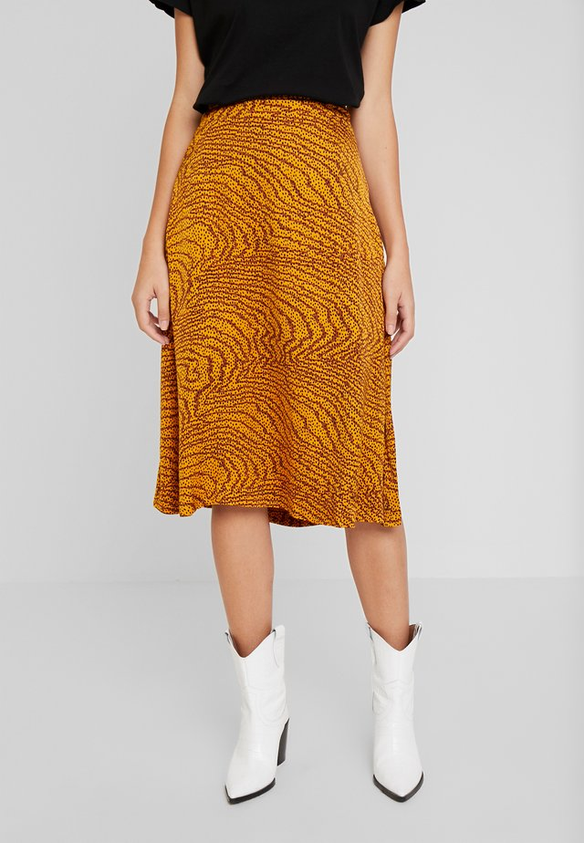 GHITA  - A-line skirt - sudan brown