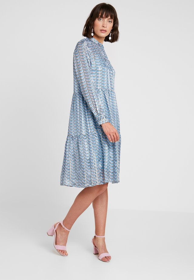 GABRIELLE - Shirt dress - adriatic blue combi