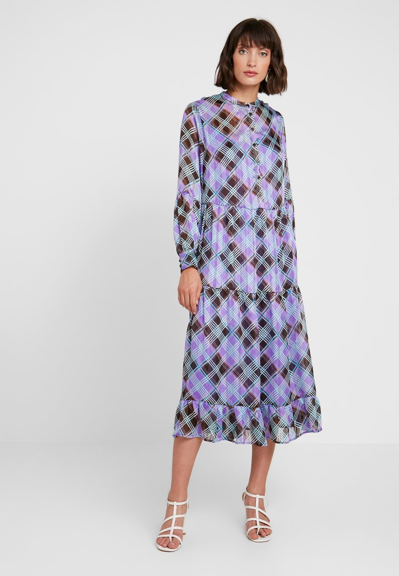 Levete Room - GAMMA - Košilové šaty - dahlia purple combi