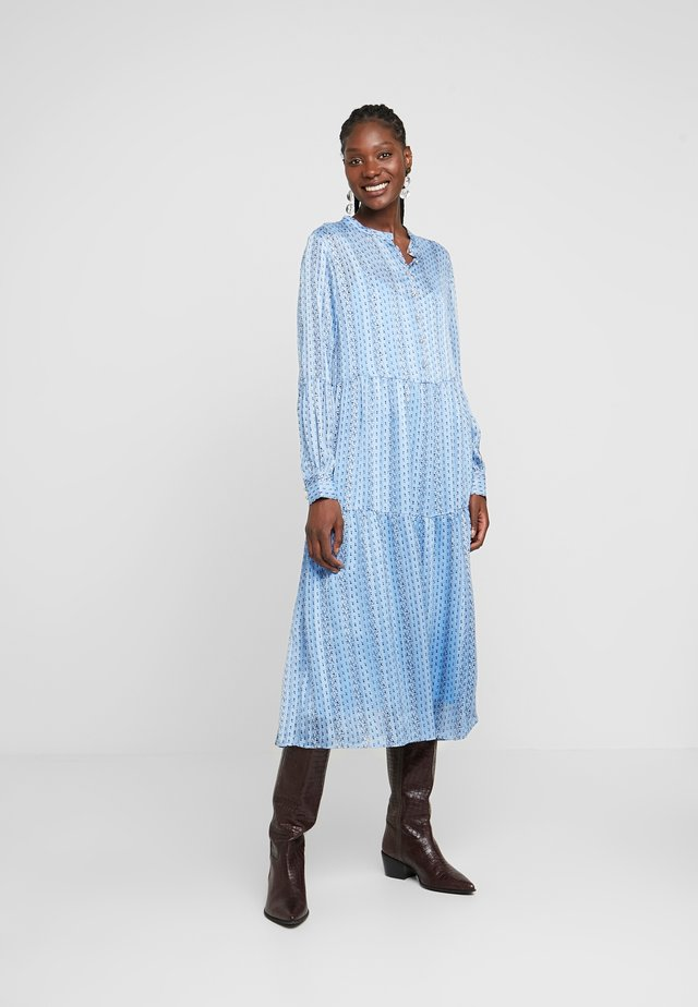 HAZEL - Korte jurk - light blue/black