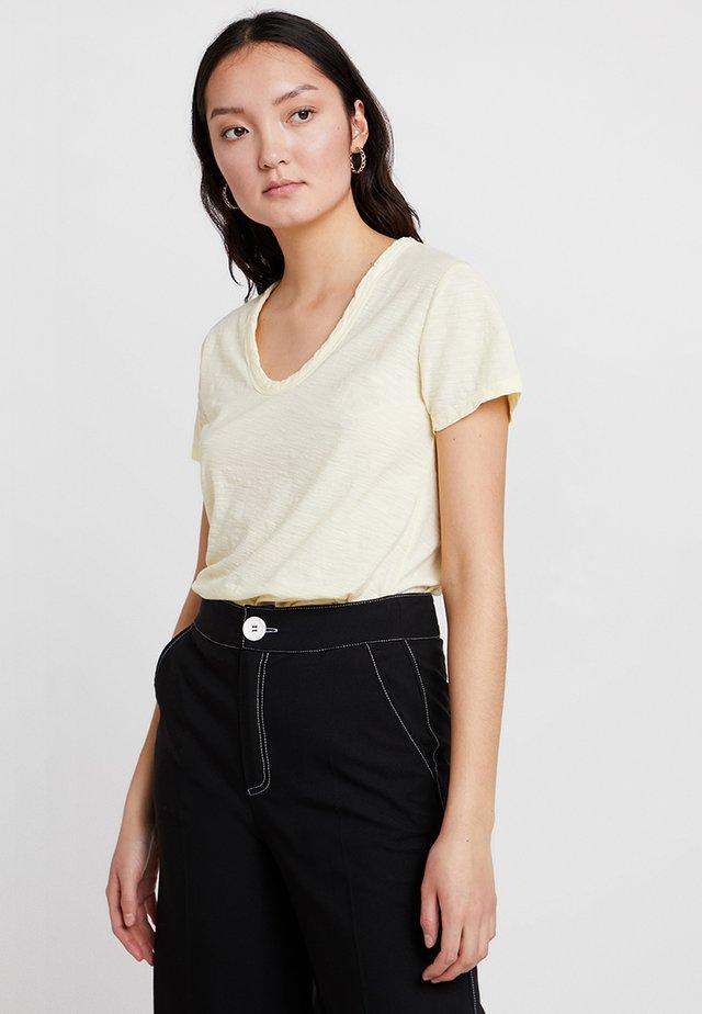 Camiseta básica - pastel yellow