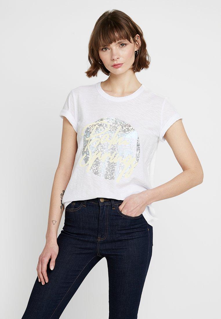 Levete Room - ALVINA - Camiseta estampada - white