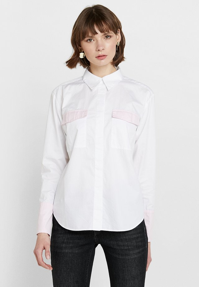 ELISE - Button-down blouse - white combi