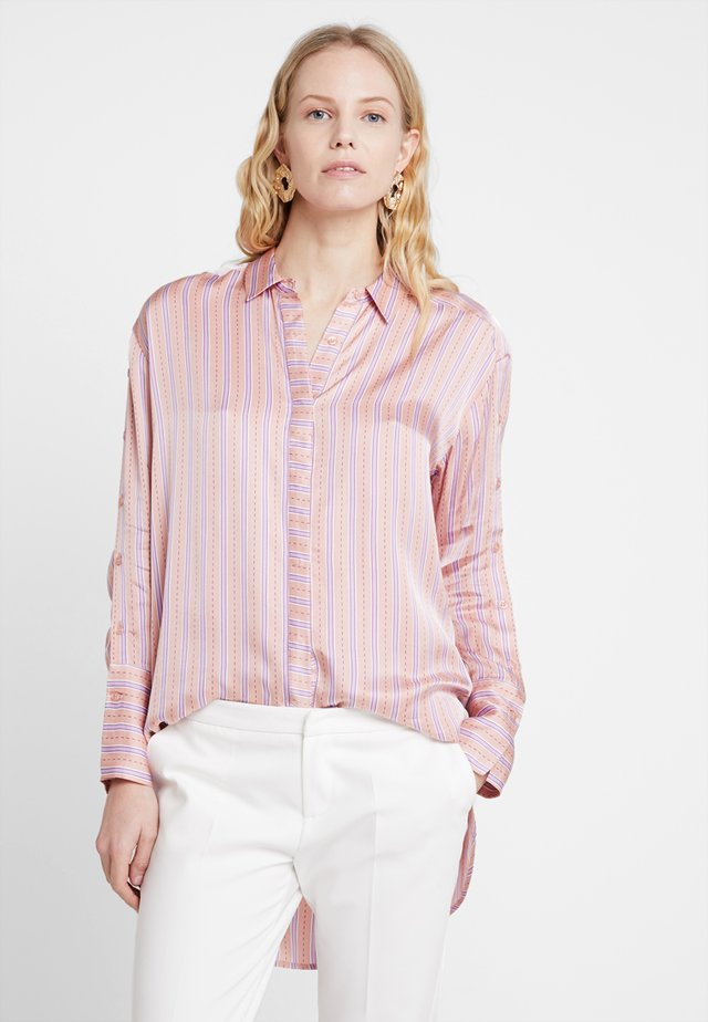 Button-down blouse - peach combi