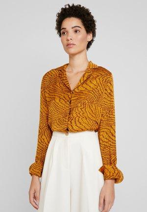 GHITA - Button-down blouse - sudan brown combi
