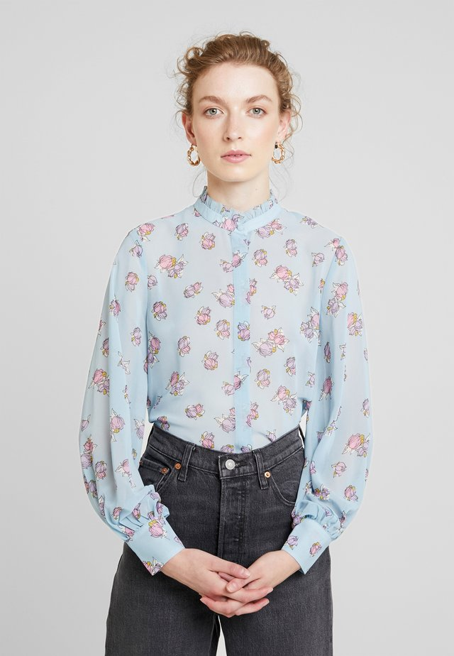 CLAUDIA - Button-down blouse - light blue