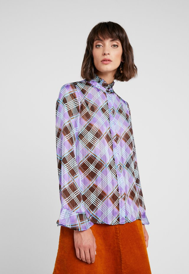 GAMMA - Button-down blouse - dahlia purple combi