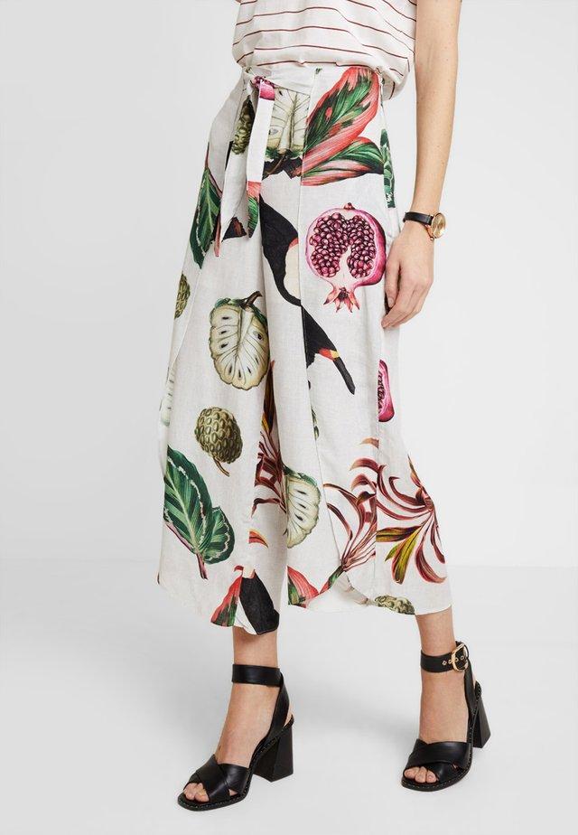 CALCA TECIDO SLUB - Trousers - multicolor