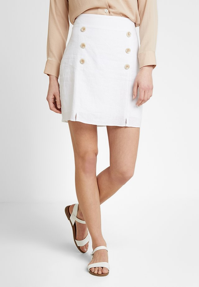 SAIA  WASHED  - Mini skirt - branco