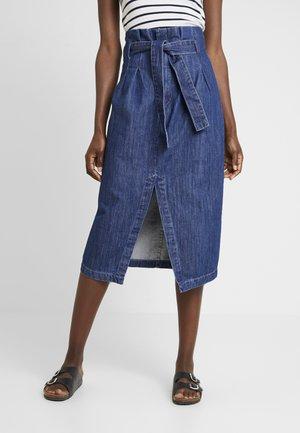 SAIA - Falda larga - blue denim