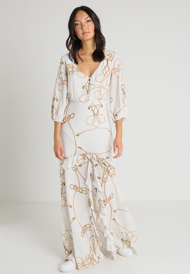 VESTIDO MANGA - Vestito lungo - beige