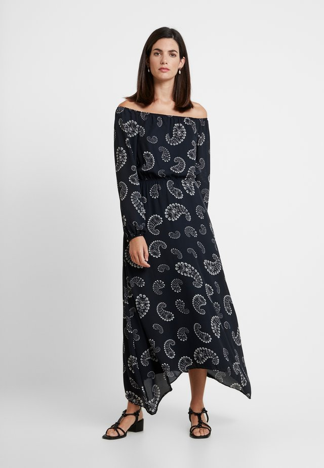 VESTIDO TECIDO CREPE - Maxi dress - black