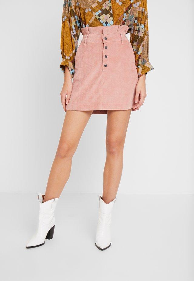 SAIA VELUDO - A-snit nederdel/ A-formede nederdele - rosa silice