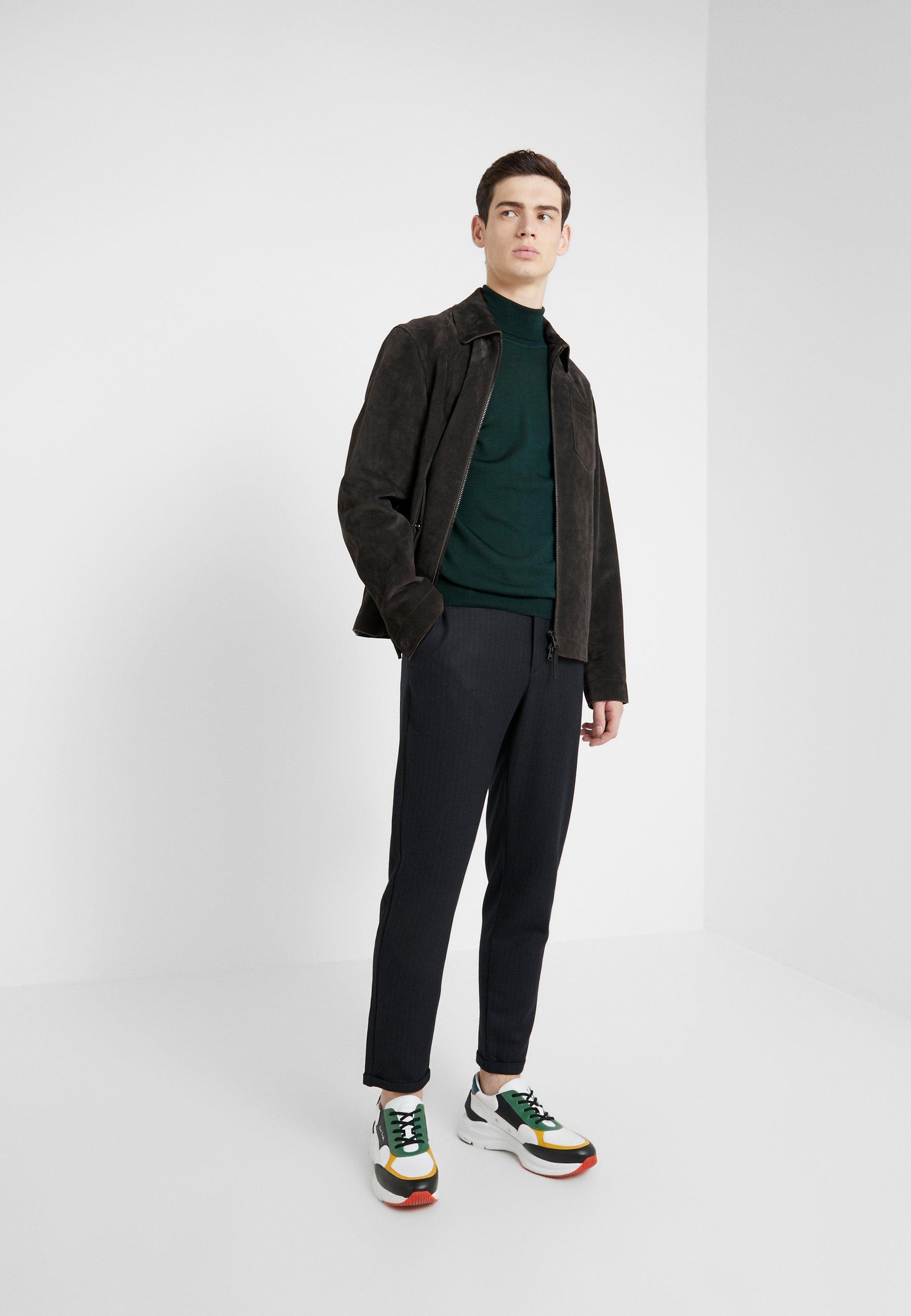 Les Deux Como Pinstripe Pants - Pantaloni Eleganti Dark Navy/light Brown DJHUmQu