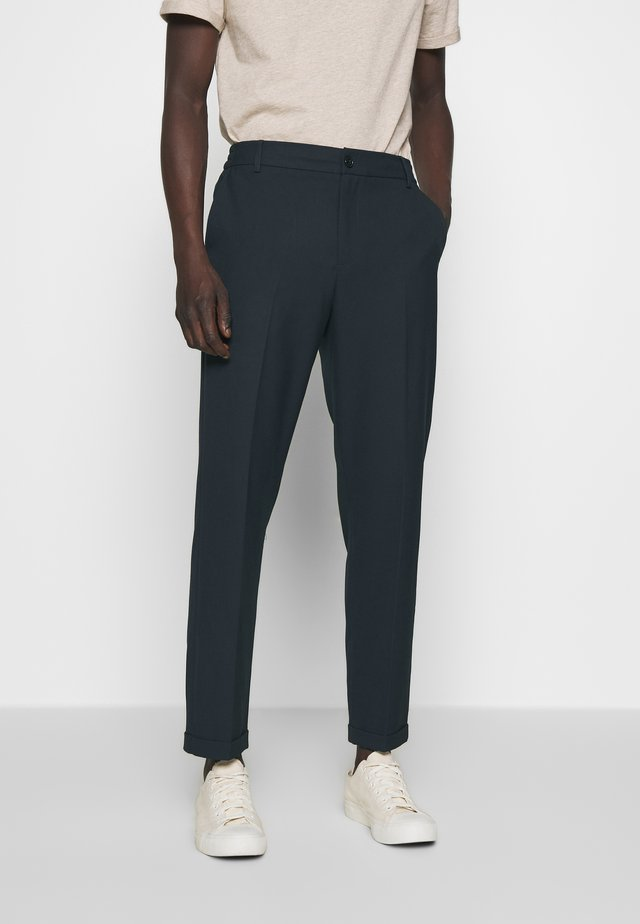 PINO WAIST PANTS - Trousers - dark navy