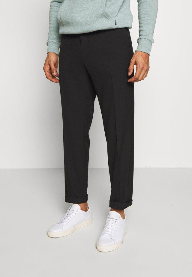 PINO WAIST PANTS - Spodnie materiałowe - black